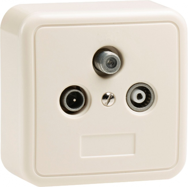 Konig Coax End Wall Outlet Socket for connecting Radio, TV & Satellite Receiver