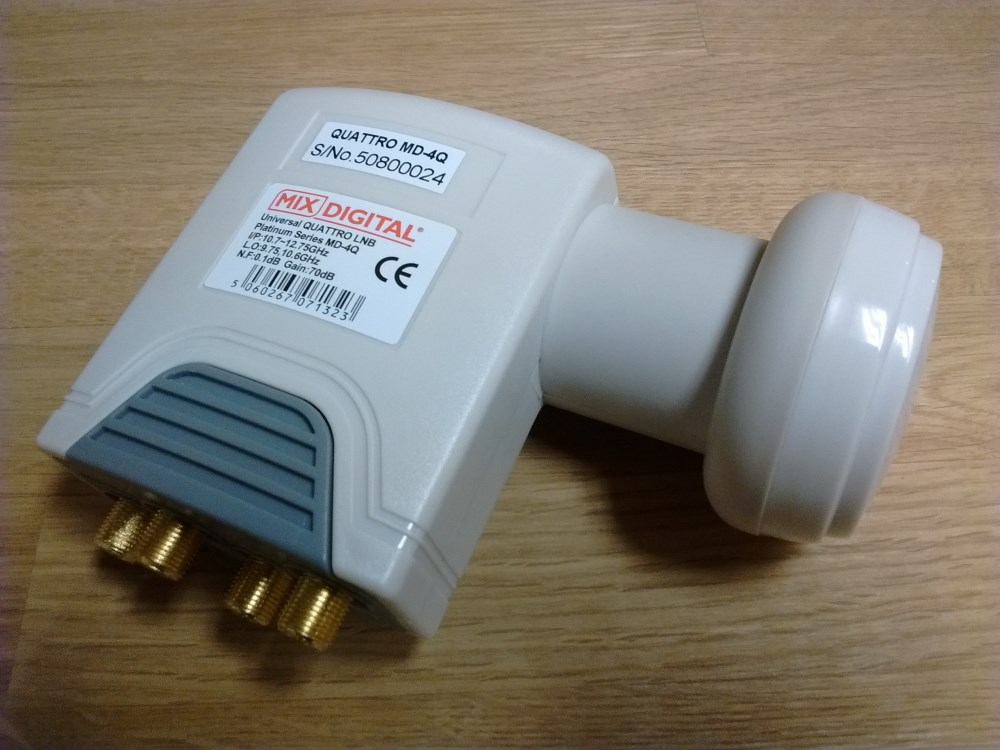 Mix Digital MD-4Q Super High 0.1dB Quattro 40mm Universal LNB