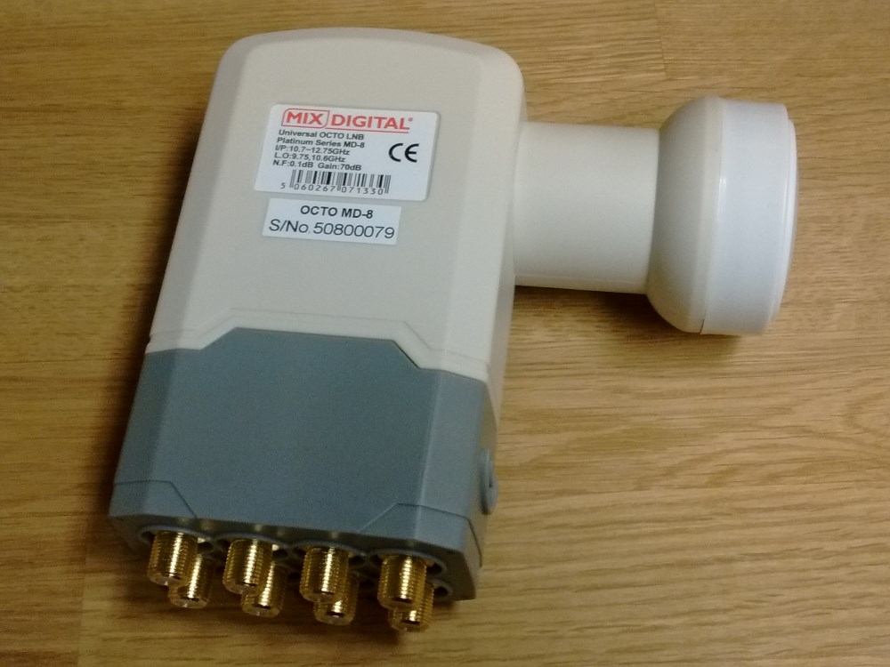 Mix Digital MD-8 Super High 0.1dB Octo 40mm Universal LNB