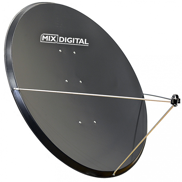 1.2m Mix Digital Steel Satellite Dish 1275mm x 1170mm & AZ-EL Mount