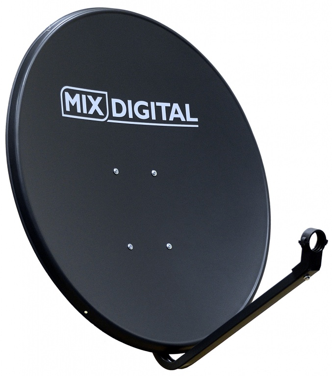 1.1m Mix Digital Solid Satellite Dish & Pole Mount Fittings 110cm
