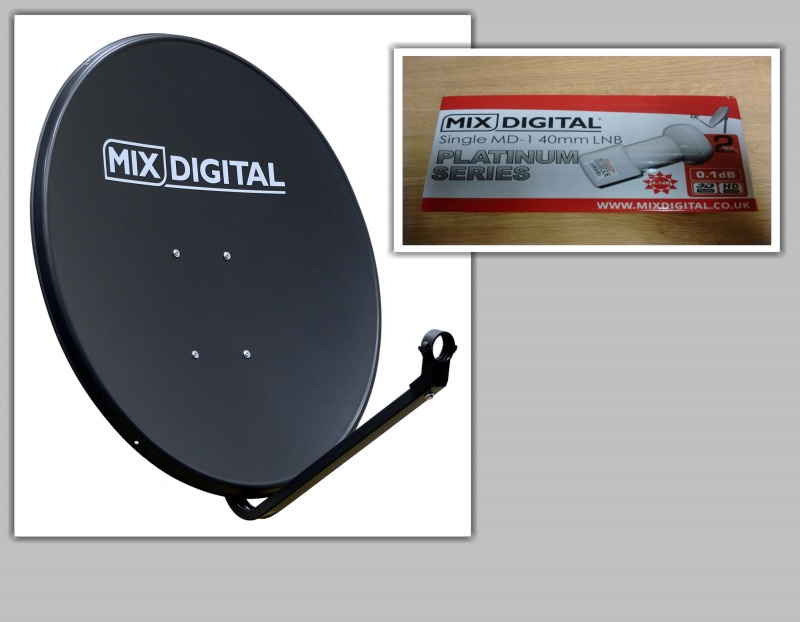 1.1m Mix Digital Solid Satellite Dish with 0.1dB LNB 110cm