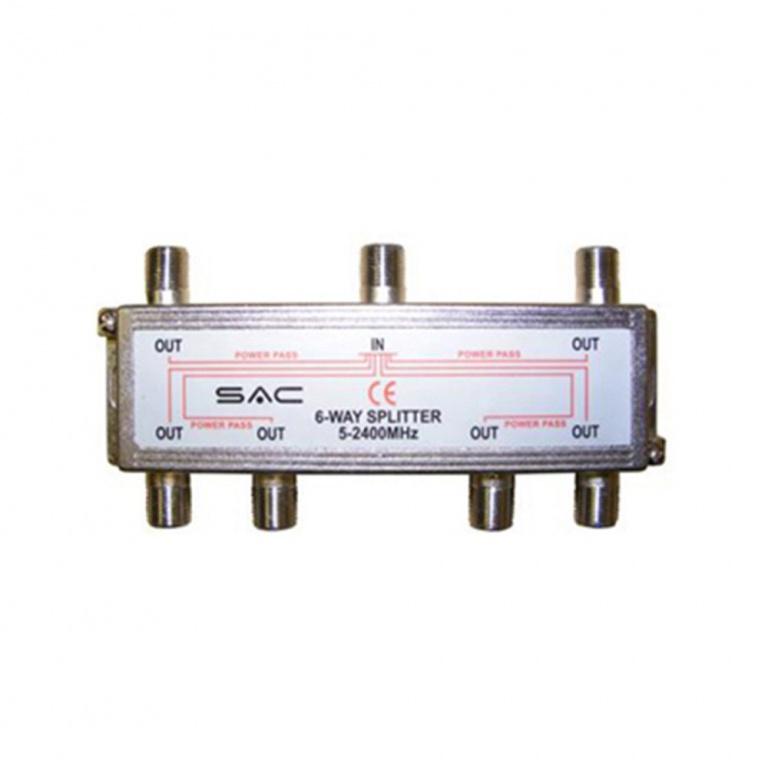 SAC 6 Way Indoor Splitter (5-2400MHz)