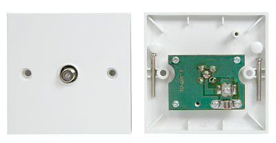 Wall Plate F-TYPE Single Outlet Dual Plug Socket AE0091