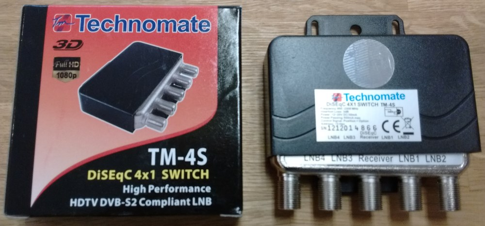 Technomate TM-4S High Performance DiSEqC 4/1 Switch