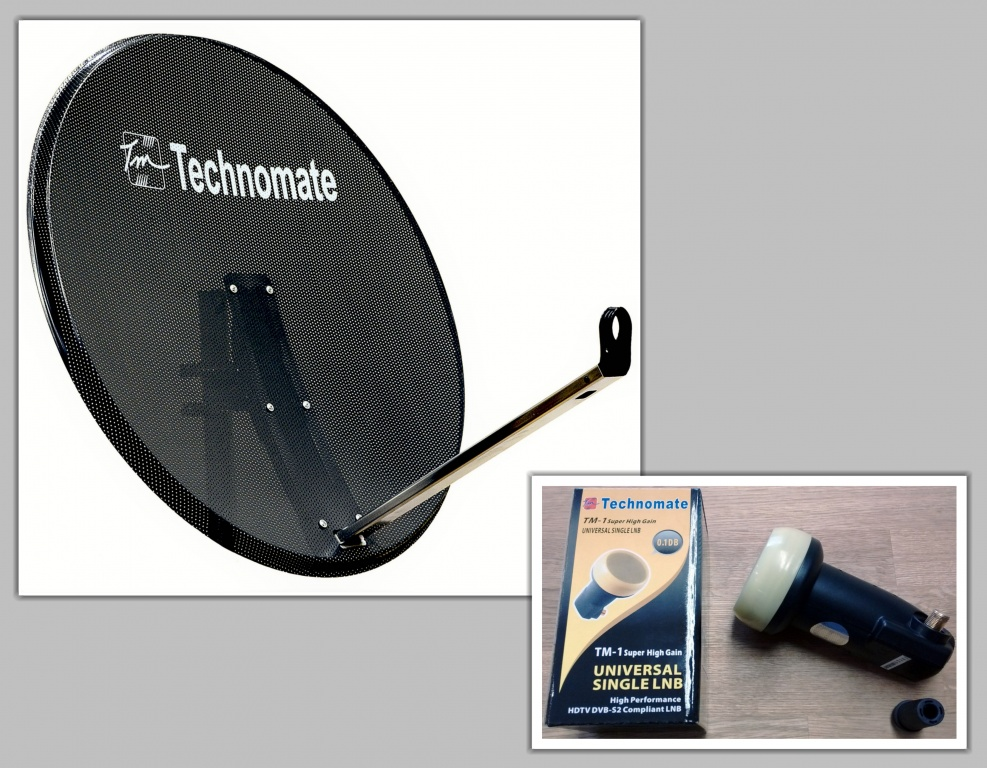 80cm technomate mesh satellite dish tm 1 lnb ebay. Black Bedroom Furniture Sets. Home Design Ideas