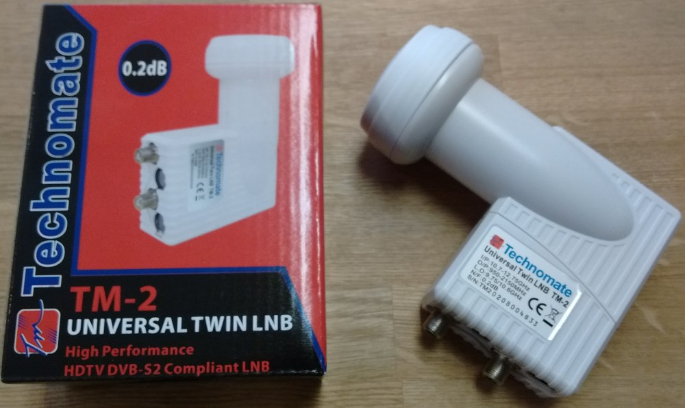 Technomate TM-2 Twin Low Noise Universal 0.2dB LNB