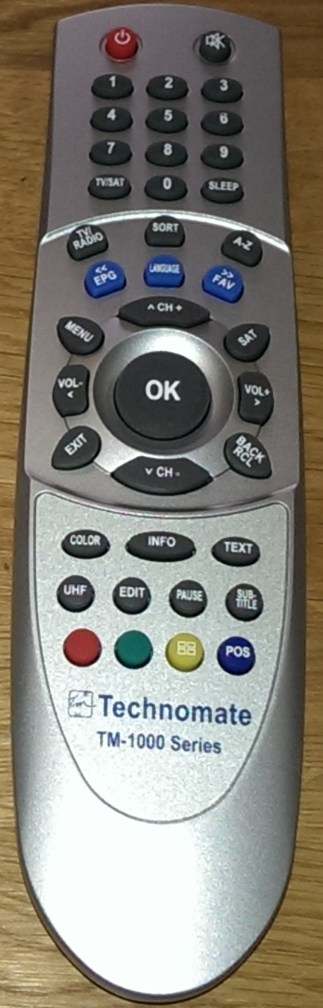 Technomate TM-1000 Series Remote Control