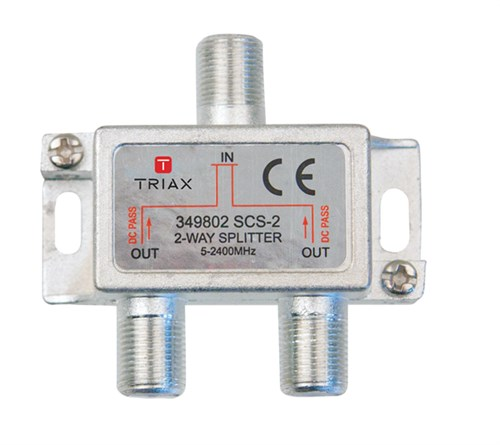 2 Way Cable Splitter : Triax way tv aerial splitter mhz