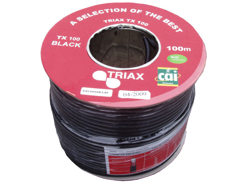 100m Triax 'Foam' TX100 Coaxial Cable
