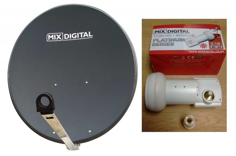 85cm Mix Digital Premium TRX Satellite Dish & Platinum 0.1dB LNB