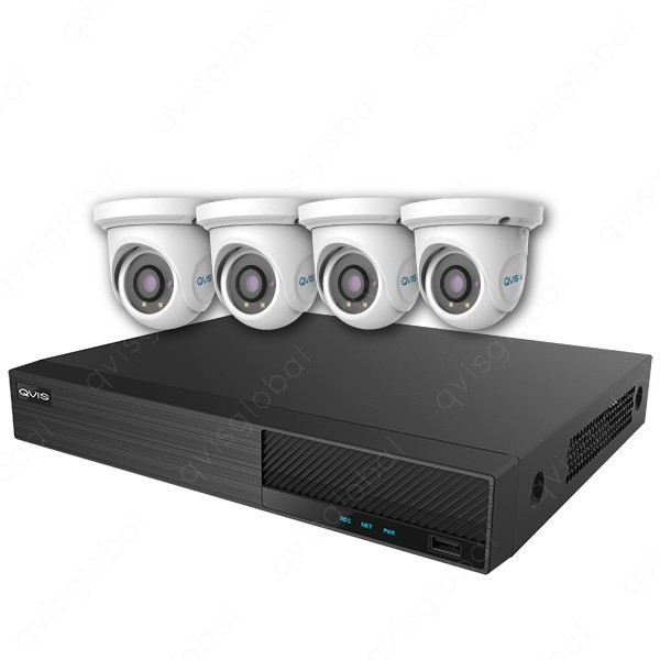 Mix Digital Viper NVR Kit - 8 Channel 2TB Recorder with 4 x 5MP Fixed Eyeball Cameras