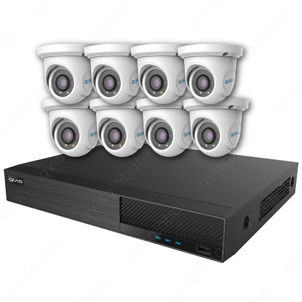 Mix Digital Viper NVR Kit - 8 Channel 2TB Recorder with 8 x 5MP Fixed Eyeball Cameras