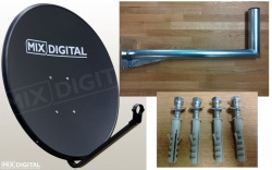 1m Mix Digital Solid Satellite Dish with Wall Mount