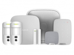 AJAX Kit 3 Cam - House c/w Keypad (White)