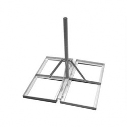 Pro 2'' x 3' Non-Penetrating Roof Mount For Satellite Dishes & Aerials