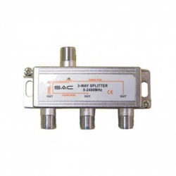 SAC 3 Way Indoor Splitter (5-2400MHz)