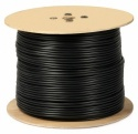 250m Single Coax RG6 Cable Freesat Satellite Digital TV Copper Clad  Black