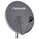 65cm Technomate Mesh Satellite Dish & Pole Mount Fittings 60cm