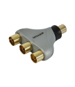Maxview H84006M 3 Way Coaxial Y Splitter-Premium