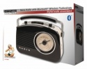 Konig 50's 60's Retro Radio with Bluetooth Wireless Technology - AM/FM - Black