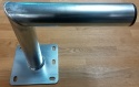 250mm Wall Mount Bracket Galvanised Steel 25cm
