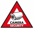 5 x Sticker Camera Security 123 x 148 mm - Konig
