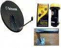 80cm Technomate Mesh Satellite Dish with Single LNB and Wall Mount