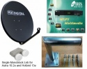 80cm Fixed Kit with HD Receiver for Spanish & European FTA Channels  Extra