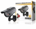 Konig CCTV Dummy Camera with Solar Panel & IR LEDs - Light up in Dark