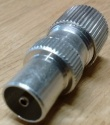 TV RF Male Self Crimping Coax Plug for Coaxial Cables