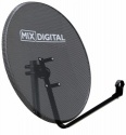 1m Mix Digital Mesh Satellite Dish & Pole Mount Fittings 100cm