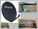 80cm Mix Digital Solid Satellite Dish, Wall Mount & Platinum 0.1dB LNB