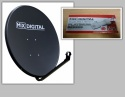 1m Mix Digital Solid Satellite Dish with 0.1db LNB - 100cm