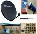 60cm Mix Digital Satellite Dish Kit SKY HOTBIRD POLSAT FREESAT