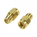 Reverse polarity SMA female - SMA male Gold adapter