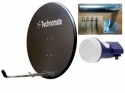 97cm Solid Technomate Satellite Dish, Wall Mount & LNB