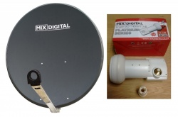 1m Mix Digital Premium TRX Satellite Dish & Mix Digital 0.1dB LNB