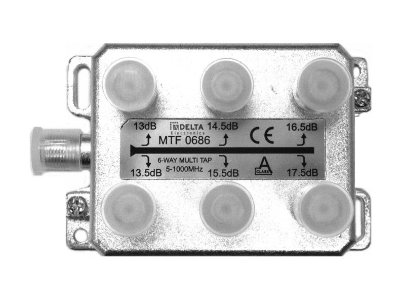 DELTA 6 Way F Splitter (5-1000MHz)