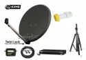 80cm Mix Digital Portable Sat Kit with Receiver and Single 0.1dB lnb