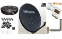 1m Mix Digital Solid Satellite Dish Kit with Twin Lnb WM Twin Cable  Fit
