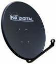 80cm Mix Digital Solid Hi-Gain Satellite Dish & Pole Mount Fittings